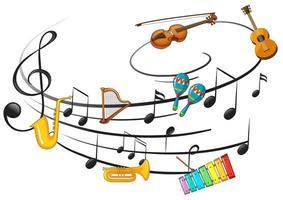 instrumento musical con nota musical foto