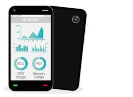 smartphone with task manager vector