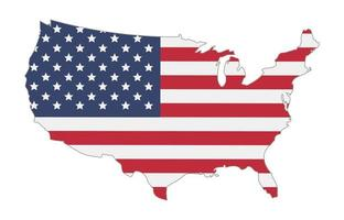 map of united states of america flag vector