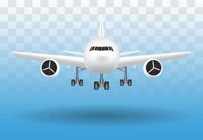 air plane landing on transparent background vector