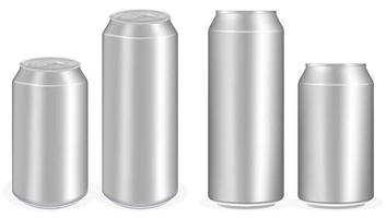 aluminium soft drink cans vector