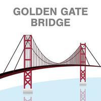 puente golden gate san francisco california vector