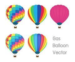globos de gas de colores vector