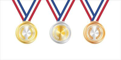 Gold Silver and Bronze Badges vector