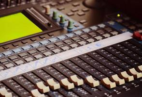 Black mixing console photo