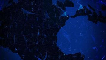 plexo esférico abstrato azul com globo