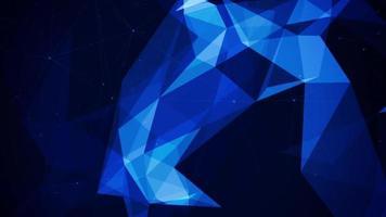Fondo de polígono digital de plexo abstracto video