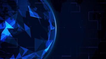 plexo esférico azul digital abstrato