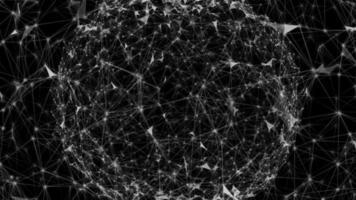 plexo esférico abstracto sobre un fondo negro video