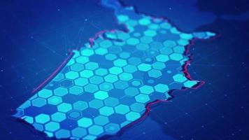 mapa hexágono digital dos eua