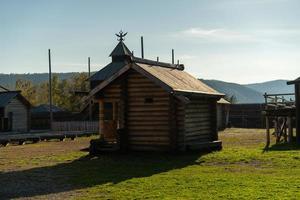 cabañas de troncos en taltsy, irkutsk foto