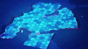 mapa hexagonal digital del medio oriente video