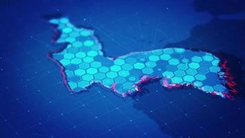 mapa hexagonal digital de corea video