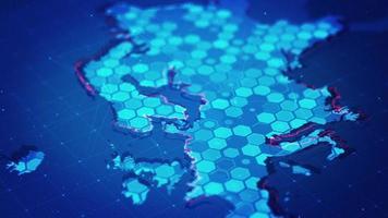 mapa digital hexagonal de europa video