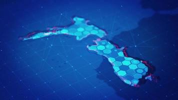 mapa hexagonal digital de nueva zelanda video