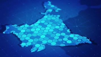 mapa hexagonal digital de la india video