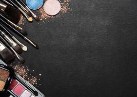 cosméticos con espacio de copia. foto