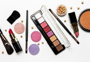 Makeup top view photo