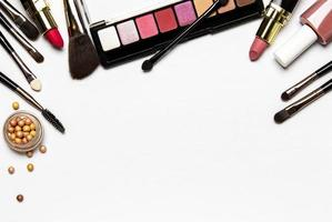 Cosmetics set with copy space photo