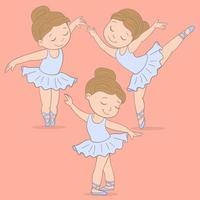 conjunto de bailarina bailando vector