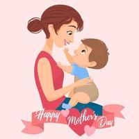 feliz dia de la madre tarjeta de felicitacion vector