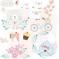 Baby cartoon icon or sticker vector