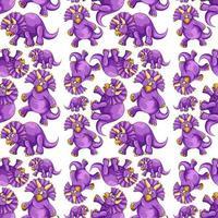 Patrón sin fisuras con dibujos animados de dinosaurios de fantasía vector