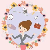 Business mom balance work and life vector