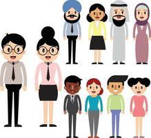 Business people cartoon vector