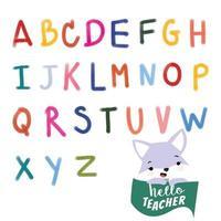 Cute alphabet A to Z vector