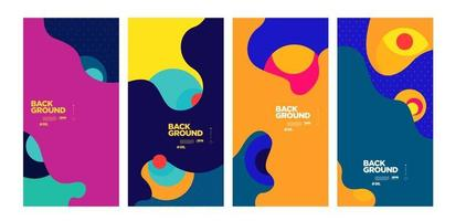 Colorful abstract background poster template vector