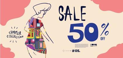 Vector women in fashion banner sale discount