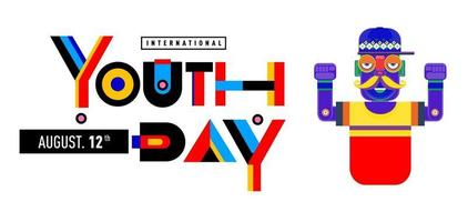 Vector illustration youth day banner