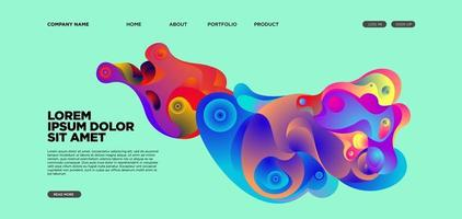Vector abstract liquid and fluid illustration landing page