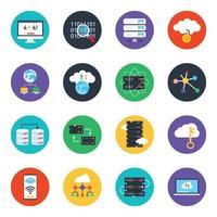 Website and Data Storage vector