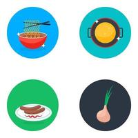 Delicious Meal Elements vector