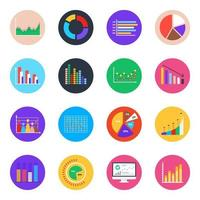 Business Analytics and Charts vector
