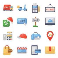 Online Shopping and Business vector