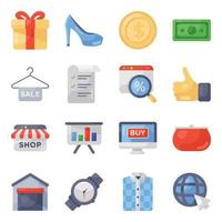 Shopping and Customer Services vector