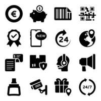 compras y comercio electrónico vector