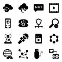 Modern Style of Media Network vector