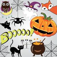 Cute sweet halloween doodle cartoon