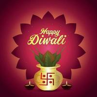 Happy Diwali Design vector
