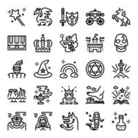 fairy tale icon set vector