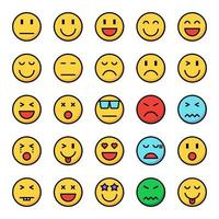 emotion icon set vector