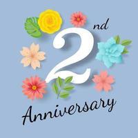 second anniversary card
