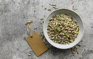 Seeds in a bowl photo