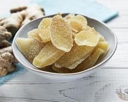 Bowl of candied ginger photo