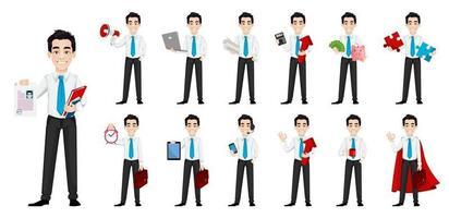 Handsome businessman cartoon character vector