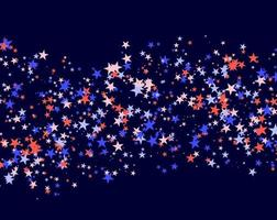 July 4th pattern made of stars vector